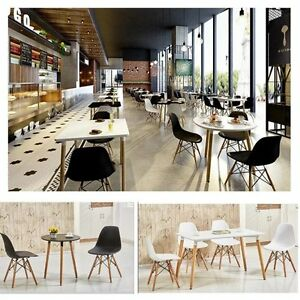 Dining-Chairs-Wooden-Retro-Lounge-Plastic-White-Eiffel-Chair-Home-Office-UK