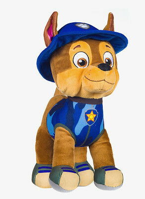 "NEW OFFICIAL 12/"" PAW PATROL SITTING CHASE PUP PLUSH SOFT TOY NICKELODEON DOGS"