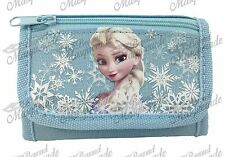 Disney Frozen Kids Tri-Fold Wallet Coin Purse Bag Elsa [Snow Blue]