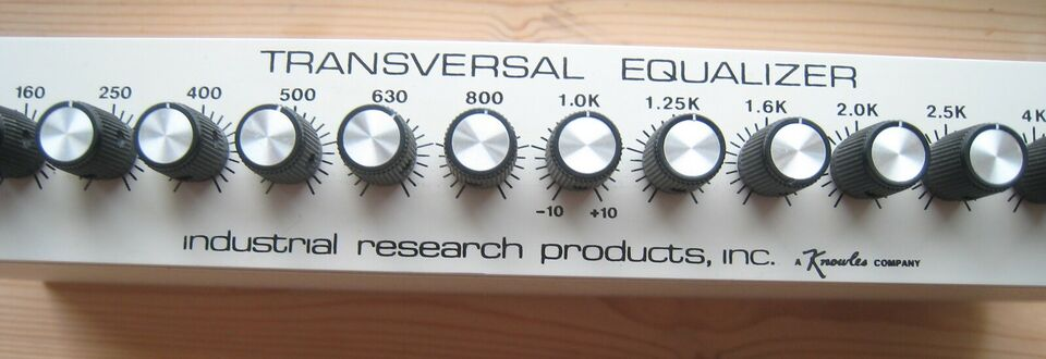 Transversal equalizer, Industrial Research Products,