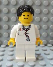 LEGO Classic Town Minifig Doctor Nurse Male Female Black Hair