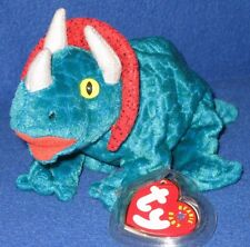 TY HORNSLY the TRIACERATOPS BEANIE BABY - MINT with TAG - SEE PICS