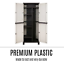 thumbnail 6 - Outdoor Adjustable Storage Cabinet Cupboard Patio Weatherproof Lockable Plastic