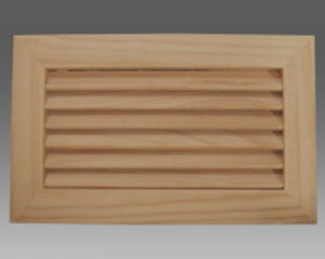 Cedar Timber Louvre Air Vent 265 x 165mm
