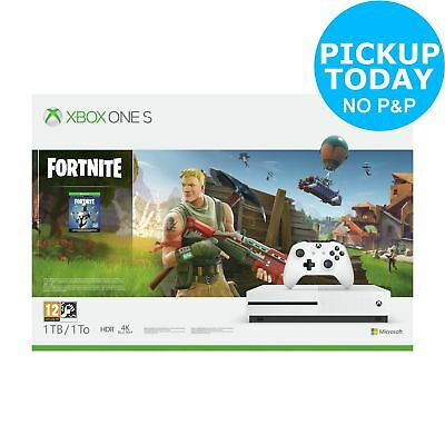 Microsoft Xbox One S Console 1TB & Fortnite Bundle - White