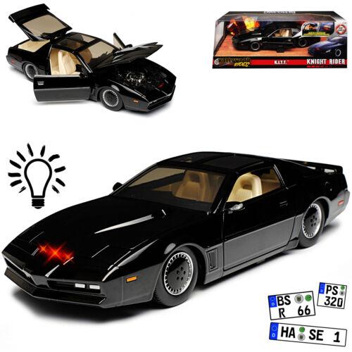 Pontiac Firebird KNIGHT RIDER KITT con luce 1//24 Jada modello auto con o senza