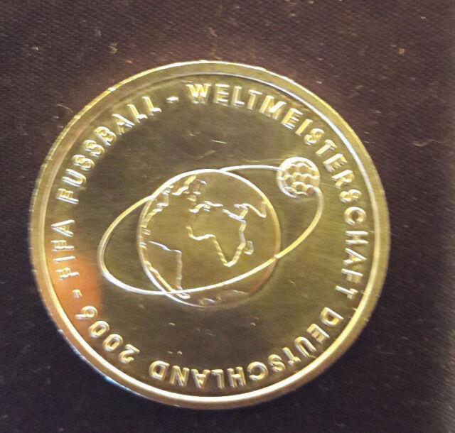 FIFA Fussball WM 2006 2. Ausgabe BRD 10 Euro Gedenkmünze Silber 2004 Bankfr.