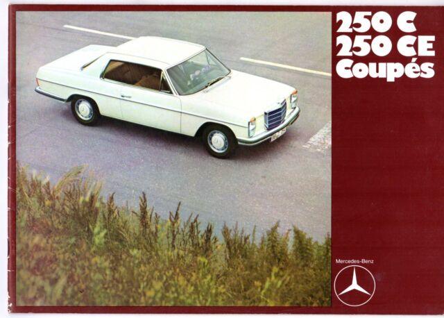 Mercedes-Benz 250 C CE Coupe W114 1969 UK Market Sales Brochure