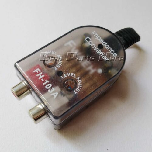 Car Stero Radio Speaker High To Low RCA Line Audio Impedance Converter B173