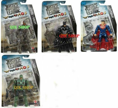 DC Justice Justice Justice League Figure Batman, Green Parademon, Cyborg & Superman All 4 6  66f3aa