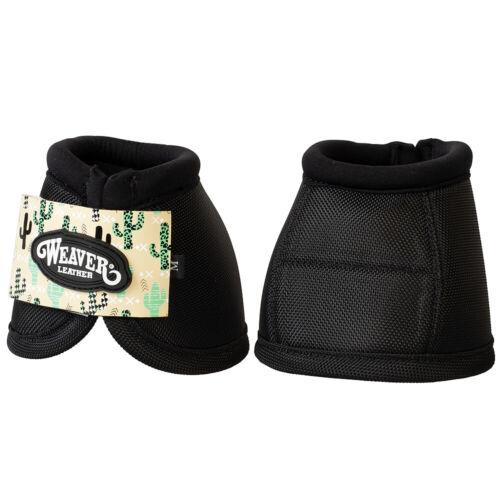 C--P22 Medium Weaver Leather Horse Bell Boots Ballistic No Turn Black Cactus