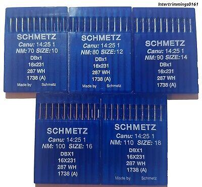 Schmetz industrielle machine à coudre aiguilles 16X231 80//12