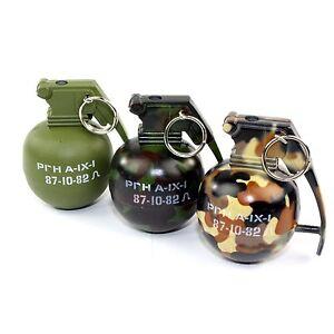 Mini Camo Hand Grenade Metal Refillable Lighter W/ Regular Flame - Free Shipping