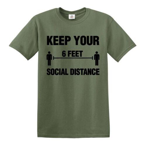 Social Distancing T-Shirt Keep Your T-Shirt//Novelty//Funny//Quarantine//2020//Tee