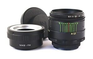Legendary Soviet Lens Helios 44 - 2 58mm F 2 Mount M42 + Adapter Fujifilm Fx Prix RéDuctions