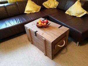 Neue-XL-Holztruhe-Holzkiste-rustikal-Seile-als-Griff-Couchtisch-Farbe-Eiche-hell