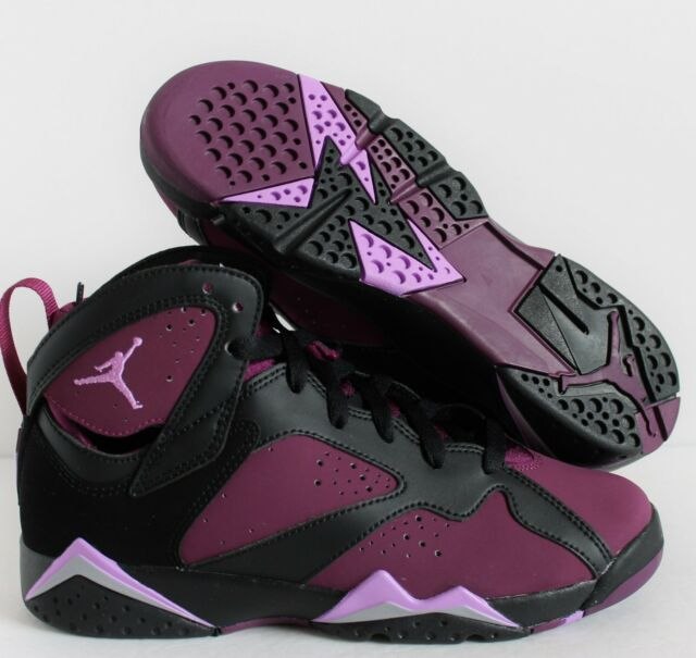 quality design 9b249 513ba NIKE AIR JORDAN 7 RETRO GG BLACK-MULBERRY SZ 9.5YOUTH    WMNS SZ