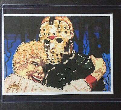 Friday The 13th Jason Voorhees Sketch Card STICKER Print Artist Tony Keaton