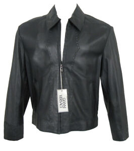 2c6b6894e985ae NEW $5119 Vintage Pre Death Gianni Versace Perforated Leather Jacket ...