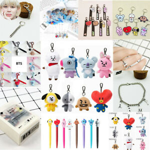 Kpop-BTS-BT21-Bangtan-Boys-Cartoon-JIMIN-JUNKOOK-SUGA-Plush-Doll-Key-Ring-Fans