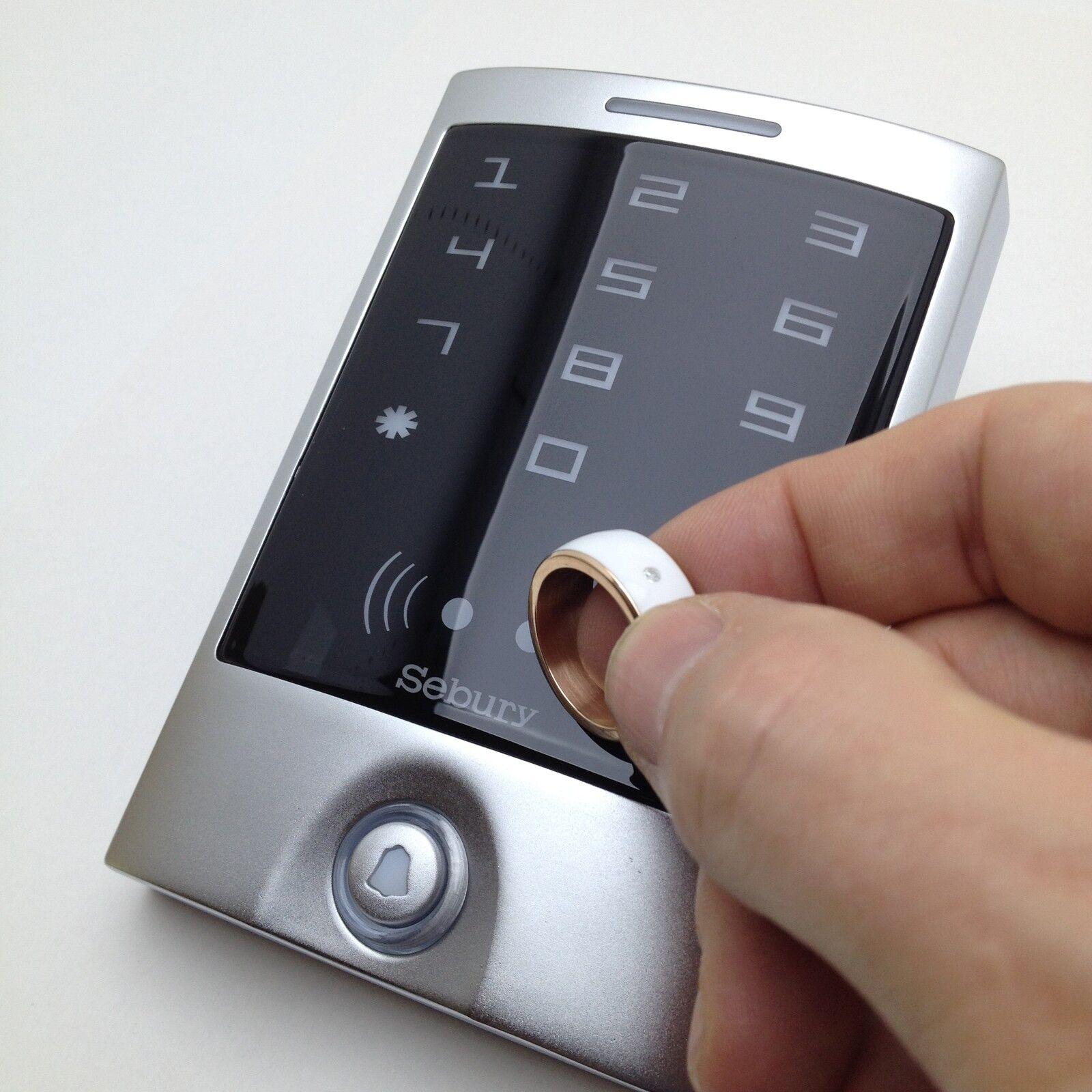 RFID-Set  Stand-Alone-Lesegerät, Netzteil, NFC-Smart-Ring schwarz oder weiß