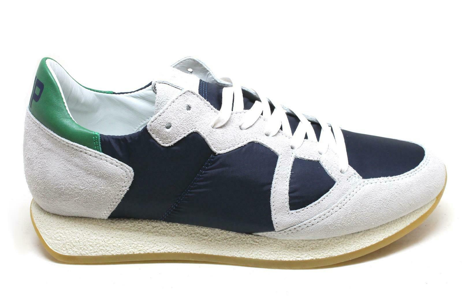 PHILIPPE MODEL - CHAUSSURE MEN'S CAM ICE + CANVAS blueE MVLU BX04 SS19