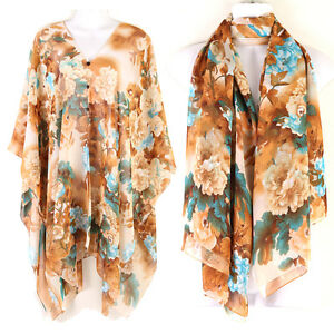 84a7131b17 Kaftan Tunic Dress Wing Tops Batwing Scarf Scraves Beach Cover Up ...