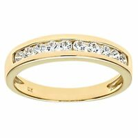 Ladies Eternity Yellow Gold Band Ring Dubai Created Diamond Reduced From £150