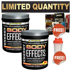 2X POWER PERFORMANCE  BODY EFFECTS 30 SRV WEIGHT FAT LOSS SUPPLEMENT THERMOGENIC
