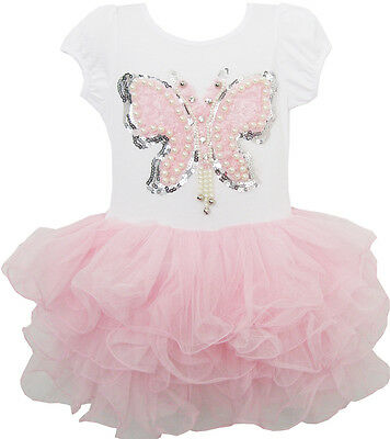 Sunny Fashion Girls Dress Butterfly Tutu Dance Pageant Party Size 2-8