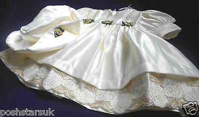 Baby Gold Ivory Christening Flower Girl Wedding Party Guest Occasion Dress 0-24m Careful Calculation And Strict Budgeting