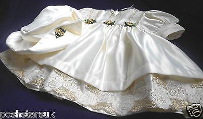 Miele Baby Oro Avorio Battesimo Damigella Matrimonio Festa Abito Occasione Degli Ospiti 0-24m-