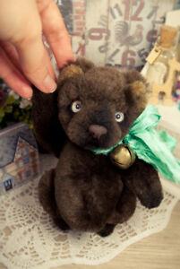 Artist-teddy-bear-ooak-teddy-bear-vintage-bear-brown-bear-5in-ooak-mini-bear
