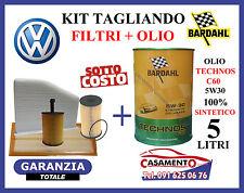 KIT TAGLIANDO VW PASSAT 1.9 2.0 TDi 4 FILTRI + 5 LITRI OLIO BARDAHL 5W30