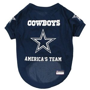 Dallas-Cowboys-America-039-s-Team-NFL-Dog-Pet-Jersey-Navy-Sizes-XS-XL