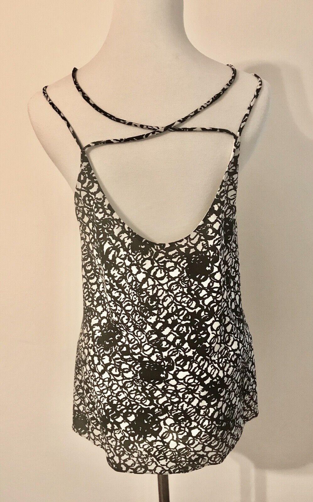 Balenciaga Black and White Silk Multi Strap Camis… - image 2