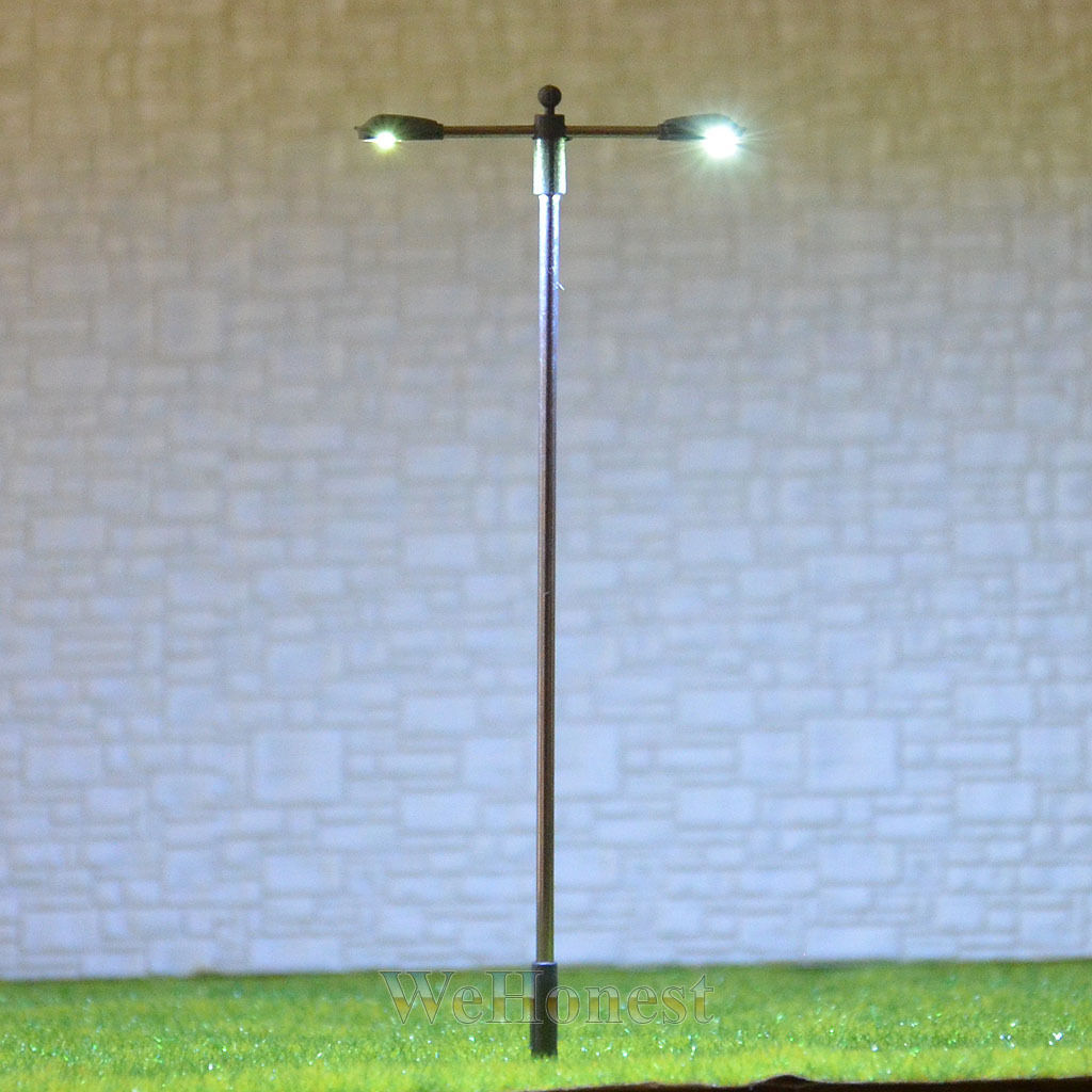 25 pcs HO OO gauge Lamp LEDs made Model Lamppost height adjustable Light  SD100D
