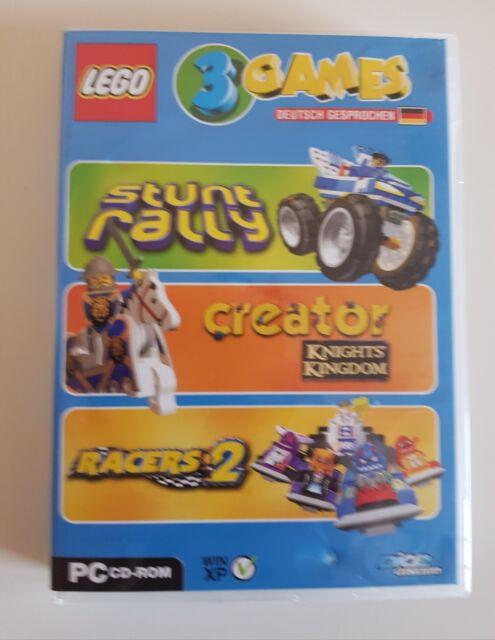 3x LEGO PC Spiele -  Stunt Rally - Creator - Racers 2
