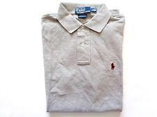 New Ralph Lauren Polo Custom Fit 100% Cotton Heather Grey Summer Shirt SLIM sz S