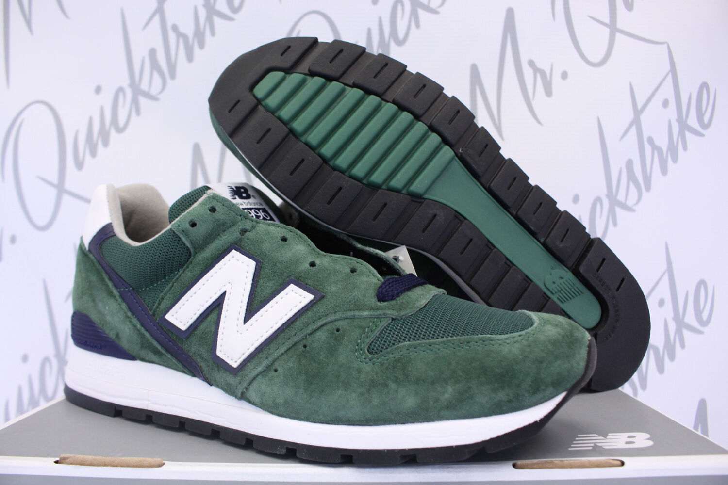 outlet store 5501a 0ca39 NEW BALANCE 996 SZ 9.5 HERITAGE HERITAGE HERITAGE MADE IN USA DARK GREEN  NAVY WHITE M996CSL