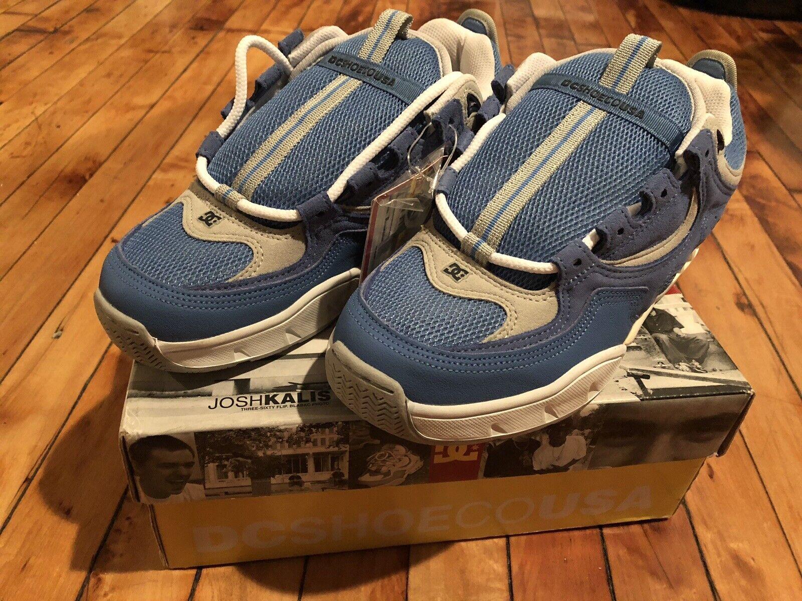 NEW IN BOX 2000 DC SHOES KALIS OG - LIGHT blueE -SIZE 9