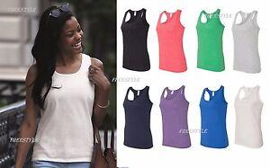 15f754ae91b NEW! Gildan - SoftStyle Women s Racerback Shirt Cotton Tank Top S ...