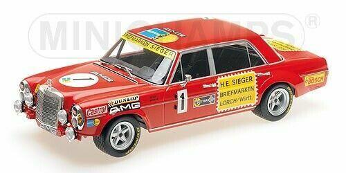 1 18 Minichamps - MERCEDES BENZ 300SEL 6.8 ADAC 24h Nürburgring 1972  1 Neu OVP