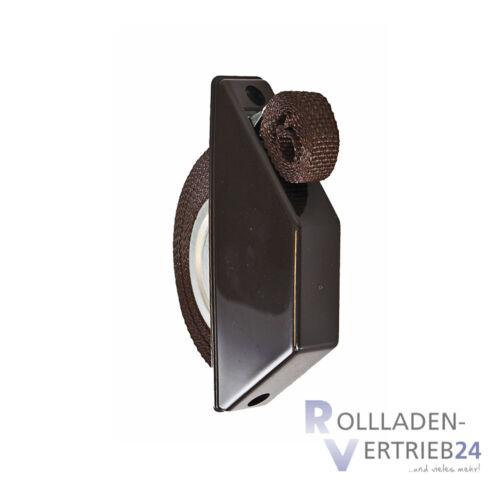 5 x Rolladen Mini Halbeinlass Gurtwickler braun 14mm Gurtband Aufwickler