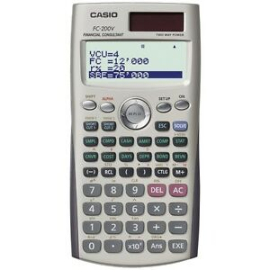 Casio fc-200v financial calculator, 4-line display,cost/sell.