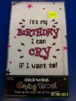 Over The Hill Birthday Crying Towel White Adult Theme Party Favor Gag Gift