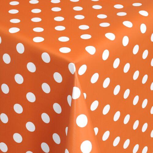 Wachstuch Tischdecke Meterware Punkte orange 01150-15 eckig rund oval