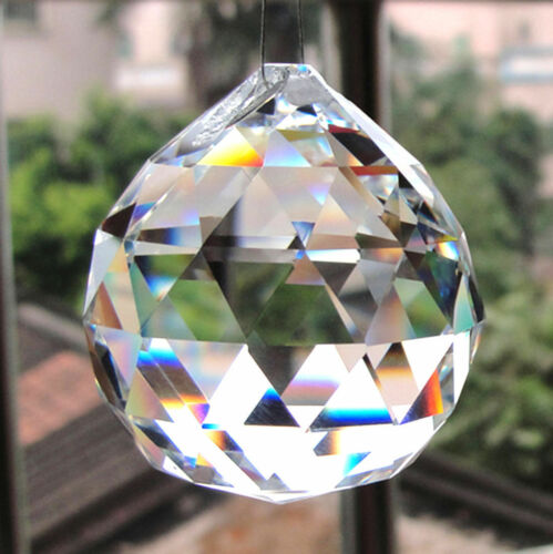 40mm Clear Feng Shui Hanging Crystal Ball Lamp Sphere Prism Rainbow Sun Catcher