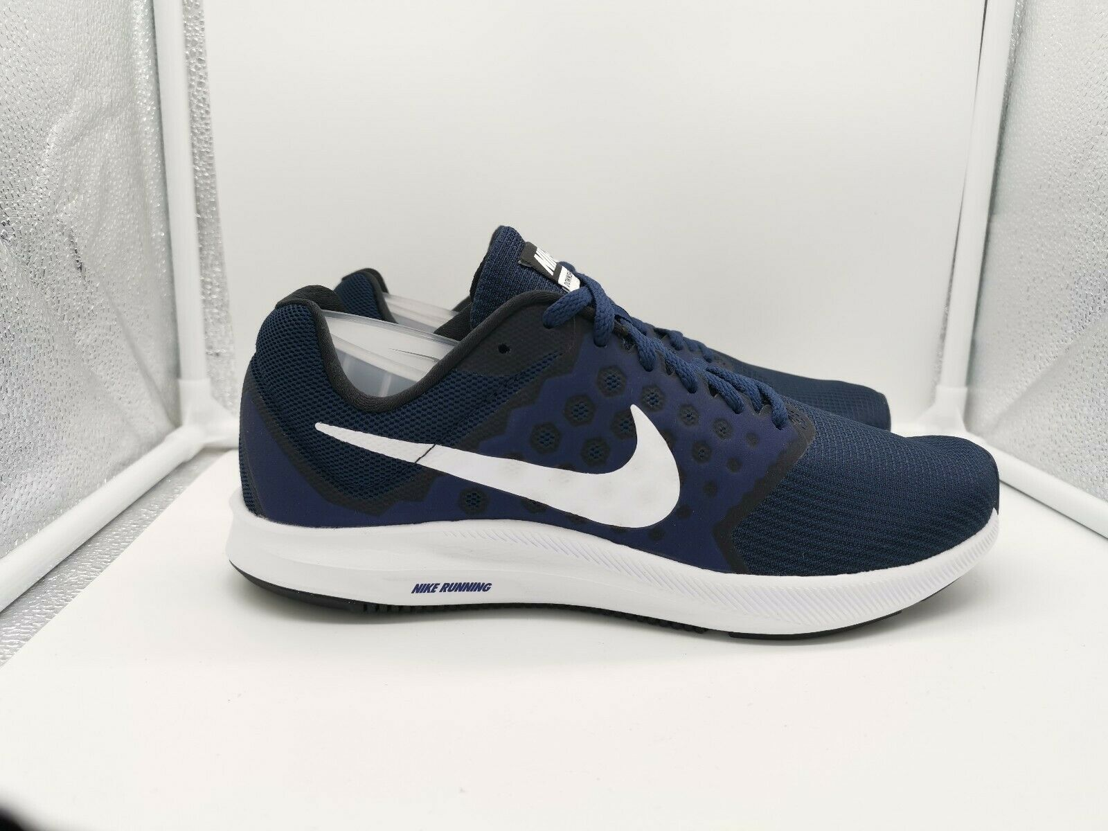Nike Downshifter 7 UK 7.5 Midnight Navy Weiß 852459-400
