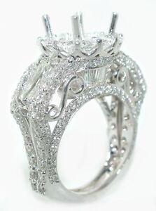 5-CT-STUNNING-DIAMOND-Crown-Venetian-Engagement-Mounting-Ring-Setting-18K-WG